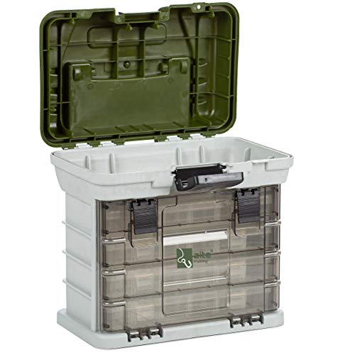 Zite Fishing Maletín de Pesca con 4 Cajas para Aparejos - Tackle Box for Spinning and More