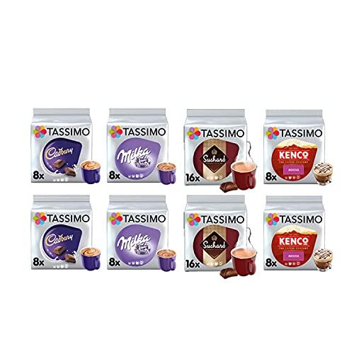 Tassimo Hot Choc/Mocha Selection – Cadbury Hot Chocolate/Kenco Mocha/Milka Hot Chocolate/Suchard Hot Chocolate Pods – 8 paquetes (80 porciones)