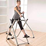 Foldable Air Walk Trainer Elliptical Machine Glider 260 LB Max Weight and 30 Inch Stride for Home Gym Workout