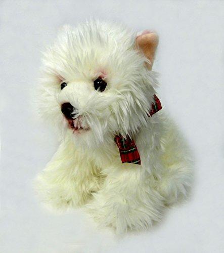 TrachtExemplar Schöner detailgetreuer West Highland Terrier - flauschig weich - Westi in lebensechter Optik - Hund ca. 20 cm