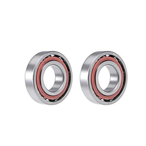 uxcell 7206AC Angular Contact Ball Bearing 30x62x16mm, Single Row, Open, 25° Contact Angle 2pcs