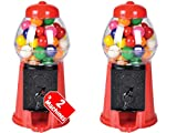 Always23 Bubble Mini Gumball Machine, Gum Machine, 6.5' Set of 2, Kids Money Saving Coin Bank, [Gumballs Included]