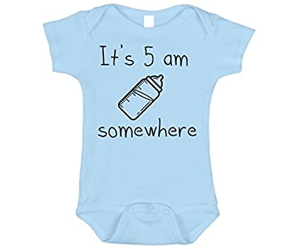 Bebe Bottle Sling It's 5 AM Somewhere Hilarious Baby Outfits, 0 To 12 Months