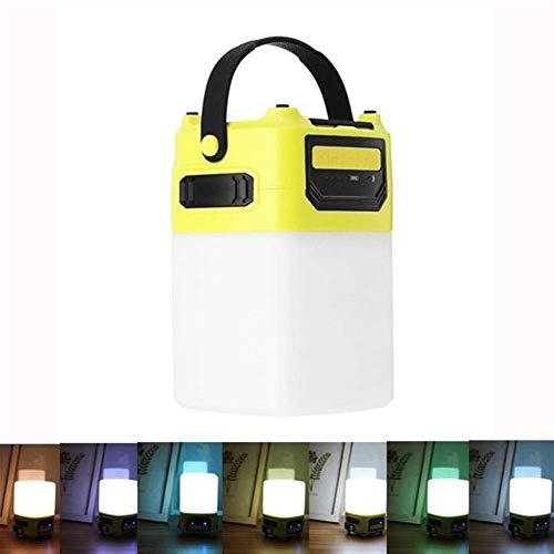 QINGJIA Decoración de Iluminación, USB portátil al aire libre camping linterna de colores regulable luz de la noche Torpe altavoz inalámbrico Bluetooth LED de luz de camping