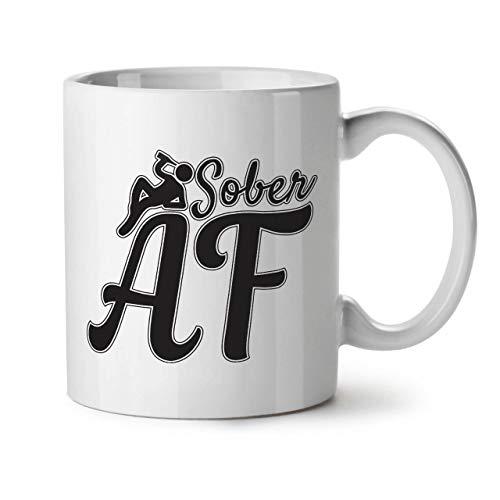 Wellcoda Nüchtern Betrunken Keramiktasse, Sarkastisch - 11 oz Tasse - Großer, Easy-Grip-Griff, Zwei-seitiger Druck, Ideal für Kaffee- und Teetrinker