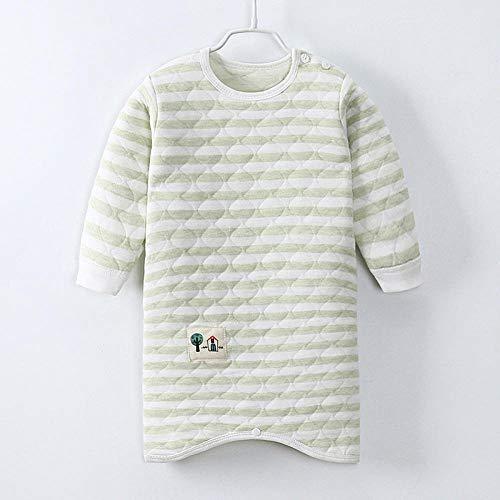 Sacco a pelo per neonato e femmina sacco a pelo trapuntato anti-calcio in cotone per neonato-verde_73cm sacco a pelo neonato