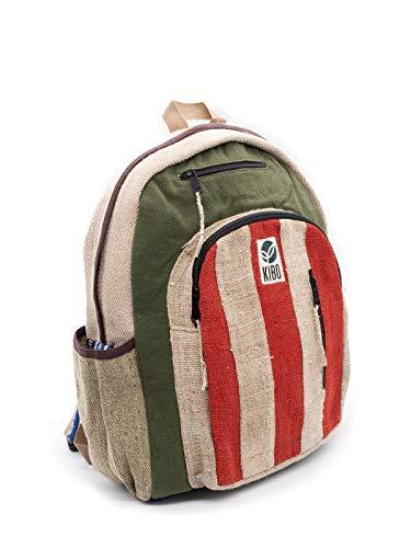 Kibo Hanf Rucksack Hemp Backpack KRS002 handgefertigt, Boho / Hippie-Style