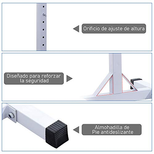 HOMCOM Soporte Estante Ajustable Barra...