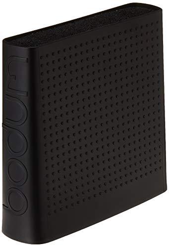 Bodum BISTRO Messerblock (Rutschfeste Silikonfüße, Spülmaschinengeeignet) schwarz