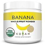 KOYAH - Organic Freeze-dried Banana Powder (1 Scoop = 1/4 Cup Fresh): 22 Servings, 220 g (7.8 oz)