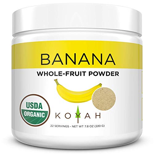 KOYAH - Organic Freeze-dried Banana Powder (1 Scoop = 1/4 Cup Fresh): 22 Servings, 220 g (7.8 oz)