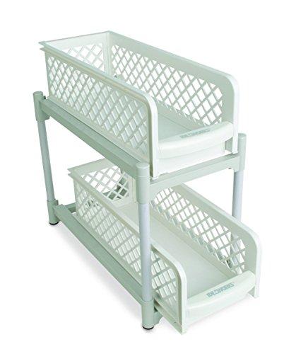 15 Versatile 2 Tier Portable Sliding Basket Drawers