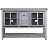 Walker Edison Furniture Company Wood Buffet Storage Cabinet (Antique Grey)