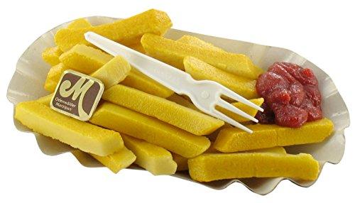Odenwälder Marzipan Pommes mit Ketchup Pommes Frites Portion Pommes