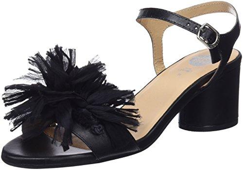 Gioseppo 45267, Zapatos de tacón con Punta Abierta Mujer, Negro (Black), 36 EU