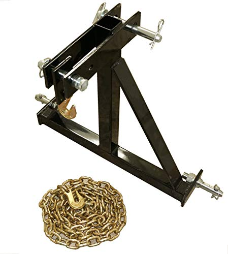 RJ Designs XHD Log Skidder Deluxe - Heavy Duty with Chain, Pins, and Hook Included - Made in USA