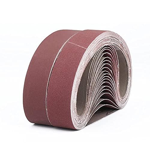 Aluminum Oxide Sanding Belts, 75x533MM Sanding Belt, for polishing Metal, Wood. 3 Grains Each 3x80/120/150/240/400, Sanding Belt Set, for Belt Sander (15 Pieces)