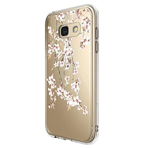 Hülle Case Kompatibel für Samsung Galaxy A3 2017 Handyhülle Ultradünn Schutzhülle Blumen Muster Antikratz case Transparent Silikon Soft TPU Crystal Clear Bumper Schutzhülle für Galaxy A3 2017 (6)