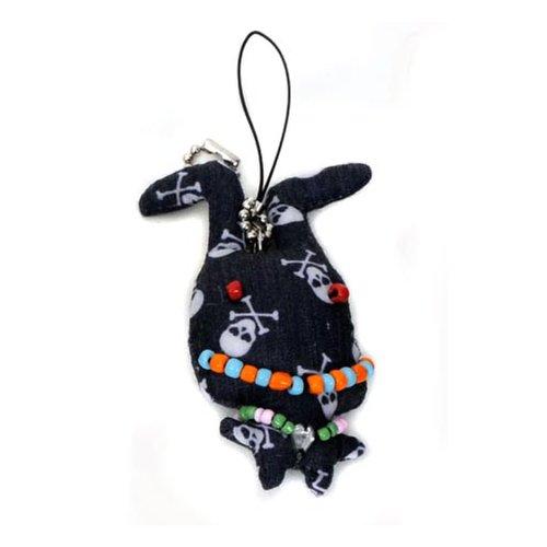 HAB & GUT Handypüppchen/Schlüsselanhänger, Püppchen Cult Mini-Dolls -UD002-G- - schwarzer Jack, ca 7 cm
