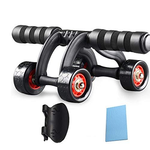 Kuingbhn Fitnesstraining Ab Roller Ab Roller Rad Fitnessgeräte 3/4 Räder Innovative Ergonomie Bauch Roller Schnitzen-System Home Gym Boxen Übungs-Trainings-Ausrüstung für starken Kern