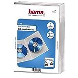 Hama 00083892Pack de 5Slim Fundas Dobles para DVD, Transparente