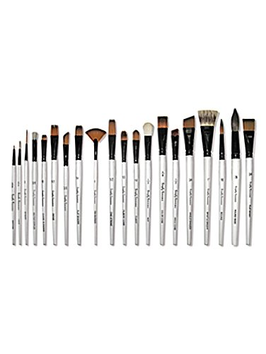 Robert Simmons Simply Simmons Watercolor & Acrylic Short-Handle Brushes 8 round synthetic mix