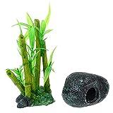 1 set de acuario de piedra de resina artificial para acuario de resina artesanal, decoración de suministros para animales pequeños