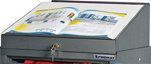 PROMAT 425928 Schreibpultaufsatz B.500xT.500mm anthr.-grau PROMAT abschließbar