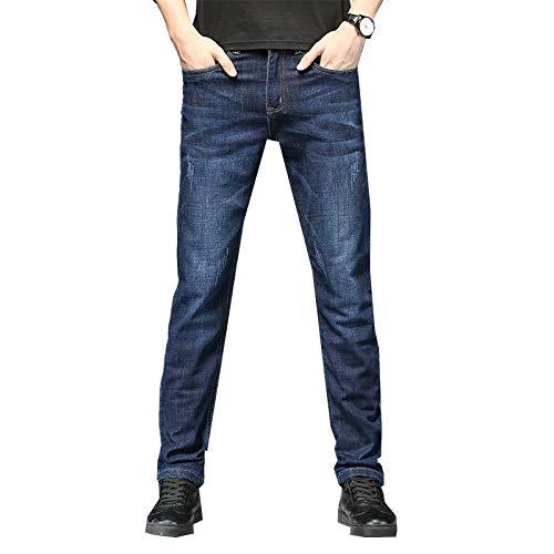 Pantalones Vaqueros para Hombre, Tendencia de Moda, Pierna Recta, Ajustados, Holgados, cómodos, Vaqueros elásticos, Pantalones de Mezclilla Casuales Finos de Verano 29