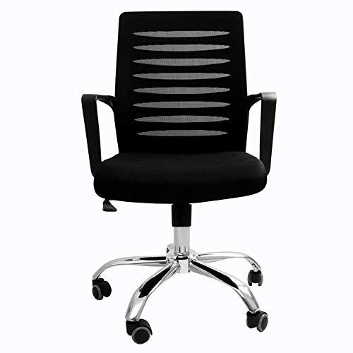Silla de Oficina, sillas de Oficina Medio Volver Respirable Respaldo y el Asiento Ajustable Administradores Negro Silla ZHNGHENG