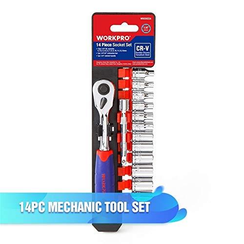 HIN GU - Strumento di potere Tool Werkzeug-Set für Reparaturen von Fahrzeugen, für Reparaturen von Fahrzeugen, mit Ratschenschlüssel, Profi-Rohr W003022ae