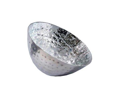 Hochwertige & Wunderschöne Schwimmschalen/Metall Schwimmlichter - Tolle Dekoration - Deko Teelichthalter/Schwimmwindlicht für Teelicht/Kerzenhalter (Groß: Ø 12,5cm - 2 Stück, Silber - Schlicht)