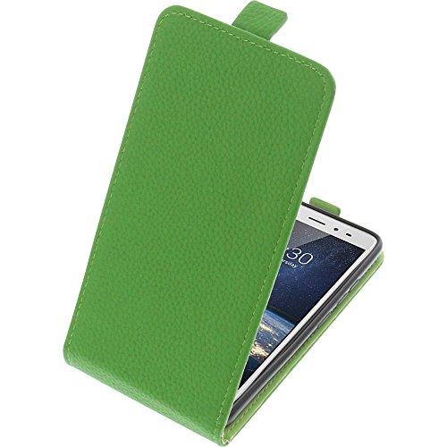 foto-kontor Tasche für TP-Link Neffos X1 Lite Smartphone Flipstyle Schutz Hülle grün