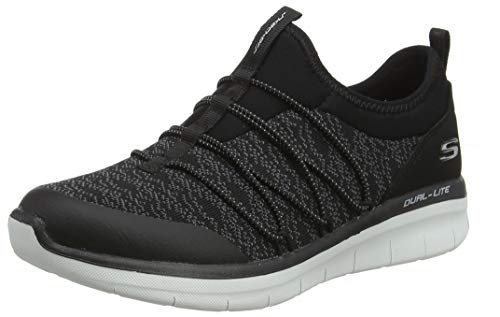 41QobVLTeTL - Skechers Women 12379 Slip On Trainers
