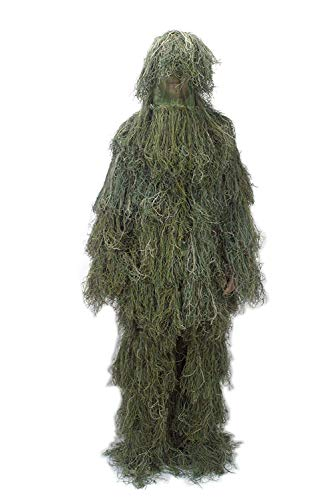 NINAT Ghillie Suit Woodland Camouflage Forest 3D Camo Leafy Gear Jungle Hunting Camouflage Clothing