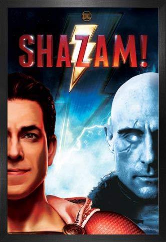 1art1 Shazam! Póster con Marco (Madera DM) - Good Vs Evil (91 x 61cm)