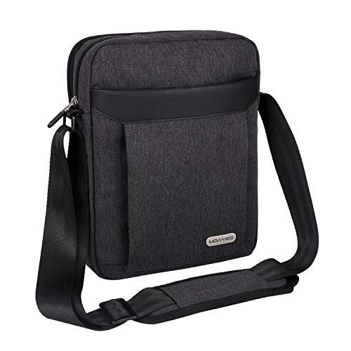 UBAYEE Man Shoulder Bag for iPad/Tablet up to 11 Inch, Lightweight Small Crossbody Messenger Bag - Black