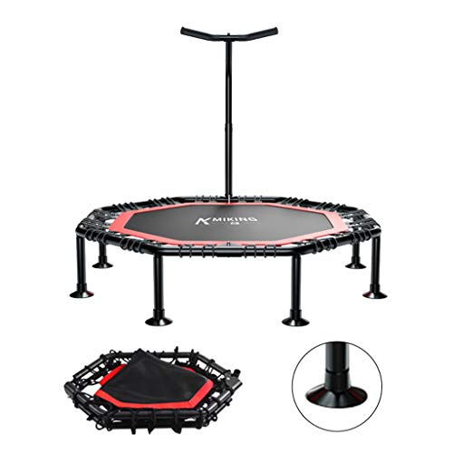"Trampolín silencioso de 42.5""con Manillar Ajustable, Fitness Trampoline Bungee Rebounder Jumping Cardio Trainer Workout for Adultos"