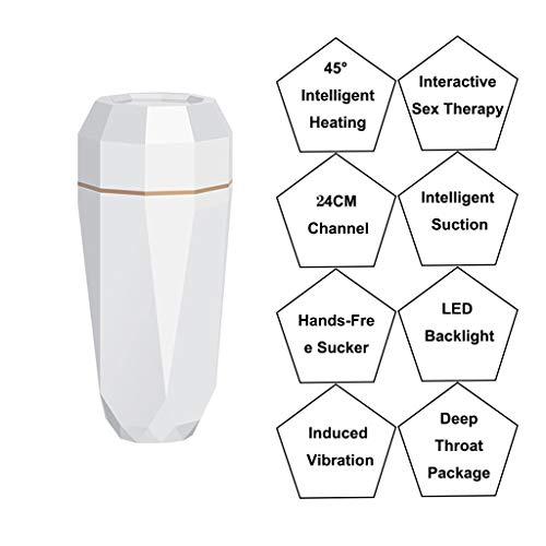 Smart Deluxe Men Cup Potente empuje Totalmente automático Modos múltiples Cupo eléctrico 3D Mujeres realistas Juguetes de bolsillo para el hombre exitoso Camiseta Ropa interior sexy para hombres 0929