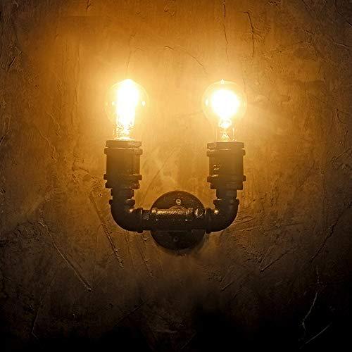 TYXL Luz de pared Lámpara Antigua Tienda De Ropa De La Pared De La Pared Del Café De La Lámpara LED De La Lámpara De Hierro Loft Viento Retro Industrial Pared De La Tubería Decoración Del Hogar 15 * 1
