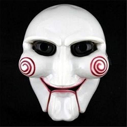 XWYWP Máscara de Halloween Máscara Popular Masquerade Terror Halloween Carnaval Fiesta Cosplay Billy Jigsaw Electric Saw Marionetas Máscara Masquerade Disfraz Prop AsPhotoShow
