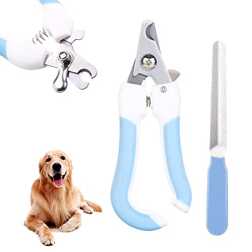 Cortador de Uñas de Perro Pájaro y Gato con Protector,Bloqueo de Seguridad y Lima de Uñas Gratis Profesional Kit de Corte de Garras de Animales para Razas de Perro pequeño, Mediano y Grande