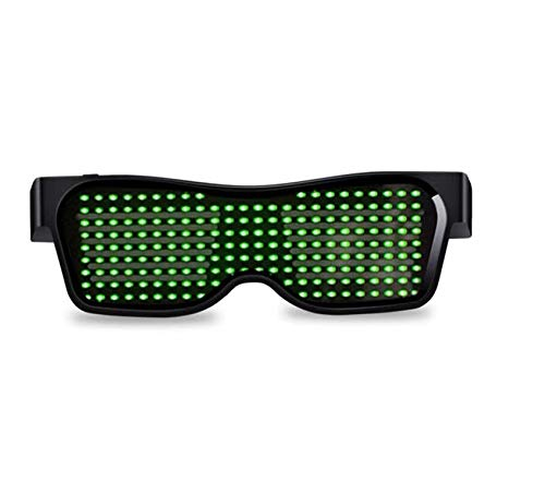 Halloween Christmas Raves Gafas luminosas Magic Bluetooth Led Party Glasses APP Control DIY Edit Multi-lingual DJ Bright Anteojos Moda Neon Punk LED Light Costume Niños Adultos
