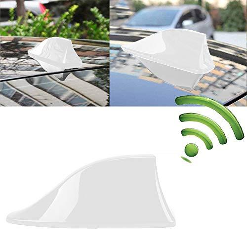 INTVN Auto Haifischflosse - Auto-Antennen, Universal Auto Shark,Universal Auto Antenne, für den Radioempfang vom AM & FM Empfang - Weiß