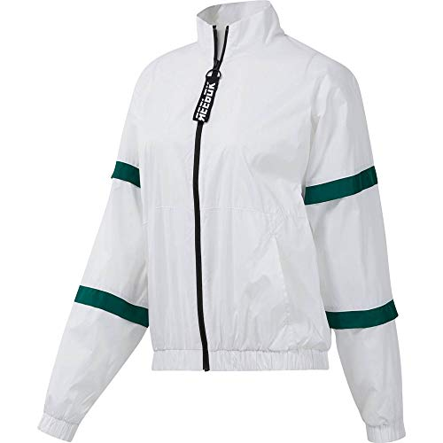 Reebok Damen Jacken Workout Ready MYT Woven Trainings  -  Grün, weiß, M, DY8118