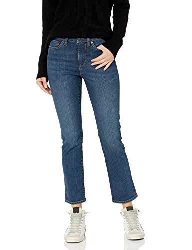 Amazon Brand - Goodthreads Women's Mid-Rise Slim Straight Jean, Deep Blue 27