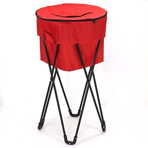 Household Essentials 2170-1 Standing Ice Cooler, Red