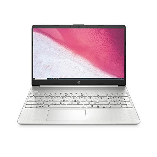 HP 15-inch HD Laptop, AMD Ryzen 3 3200U Processor, 8 GB RAM, 256 GB SSD, Windows 10 Home (15-ef0021nr, Natural Silver)