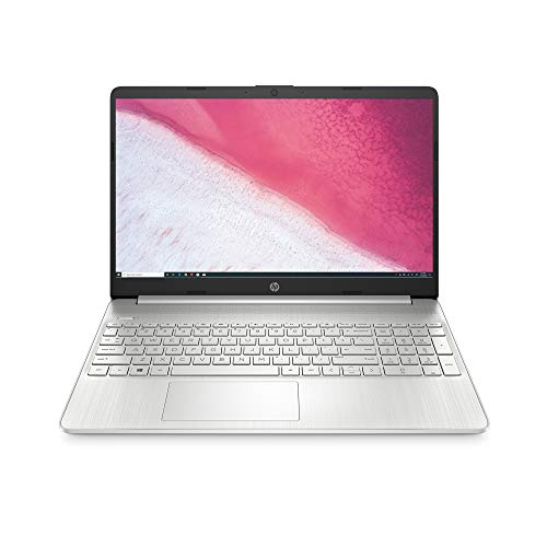 HP 15.6-inch HD Laptop, AMD Ryzen 3 3200U Processor, 8 GB RAM, 256 GB SSD, Windows 10 Home (15-ef0021nr, Natural Silver)