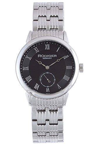 RÜDIGER GERMANY R3000-04-007 - Reloj de Pulsera Hombre, Acero Inoxidable, Color Plata